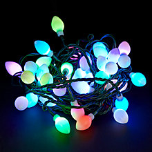 Buy John Lewis Indoor Morphing Pearl Christmas Line Lights, x40, Multi Online at johnlewis.com