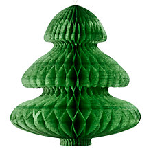 Buy Pulp Honeycomb Tree Decoration, Pack of 3, Pine Green Online at johnlewis.com