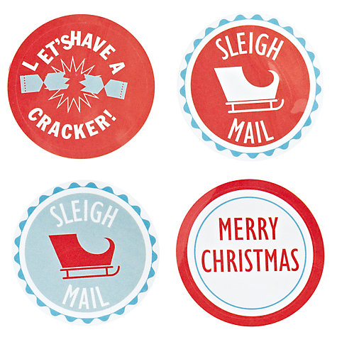 Buy John Lewis 60 Christmas Stickers Online at johnlewis.com