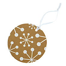 Buy John Lewis White Snowflake Gift Tags, Pack of 8 Online at johnlewis.com