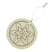Buy John Lewis Vintage Snowflake Gift Tags, Pack of 8 Online at johnlewis.com