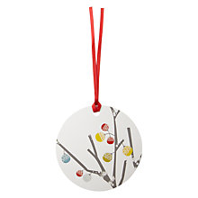 Buy John Lewis Woodland Bauble Gift Tags, Pack of 4 Online at johnlewis.com