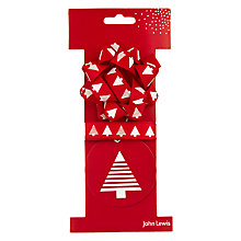 Buy John Lewis Woodland Tree Bow, Tag and Ribbon Set Online at johnlewis.com