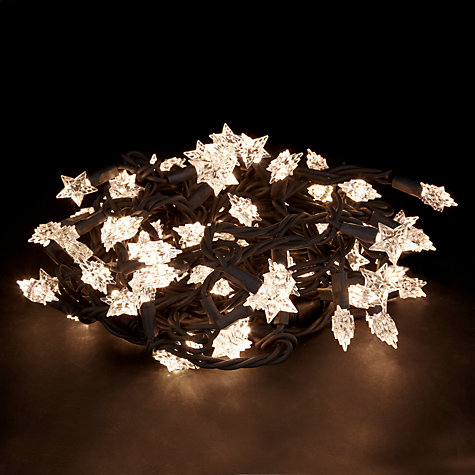 Buy John Lewis Outdoor LED Star Moulded Christmas Line Lights, x100, Warm White Online at johnlewis.com