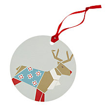 Buy John Lewis Woodland Reindeer Gift Tags, Pack of 8 Online at johnlewis.com
