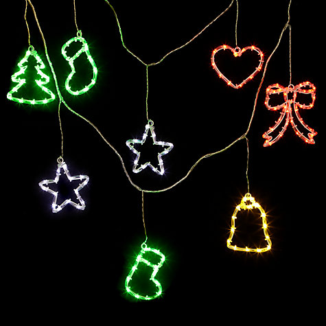 Buy John Lewis Outdoor LED Novelty Garland Christmas Line Lights, x10, Multi Online at johnlewis.com