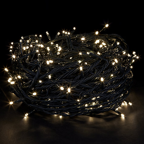 Buy John Lewis Indoor/Outdoor LED Christmas Line Lights, x300, Soft White Online at johnlewis.com