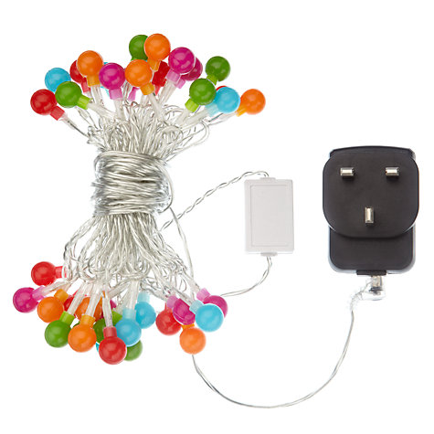 Buy John Lewis Indoor Mini Popsicle LED Line Lights, x40, Multi Online at johnlewis.com