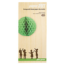 Buy Pulp Honeycomb Ball Decoration Online at johnlewis.com