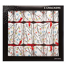 Buy John Lewis Woodland Wonder Flitter Crackers, Set of 6 Online at johnlewis.com