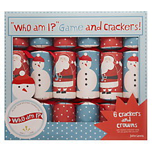 Buy John Lewis Who Am I Game Crackers, Set of 6 Online at johnlewis.com