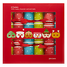 Buy John Lewis Masked Adventure Mini Crackers, Set of 6 Online at johnlewis.com