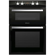 Buy Hotpoint DCL08CB Signature Double Electric Oven, Black Glass Online at johnlewis.com