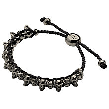 Buy Links of London Silver Skull Friendship Bracelet Online at johnlewis.com