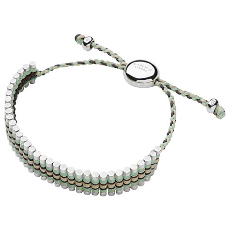 Buy Links of London Woven Friendship Bracelet, Mint / Yellow Online at johnlewis.com