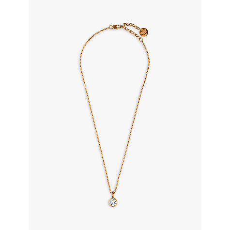 Buy Dyrberg/Kern Ette Swarovski Crystal Pendant, Rose Gold Online at johnlewis.com
