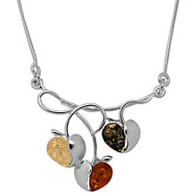 Buy Goldmajor Amber Apple Sterling Silver Collar Necklace, Multi Online at johnlewis.com