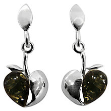 Buy Goldmajor Amber Apple Sterling Silver Drop Earrings, Green Online at johnlewis.com