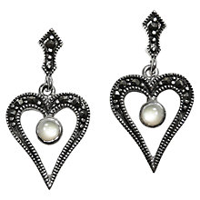 Buy Goldmajor Marcasite and Mother of Pearl Drop Earrings Online at johnlewis.com