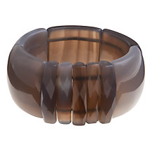 Buy Lola Rose Byrony Oblong Stretch Cuff, Grey Agate Online at johnlewis.com