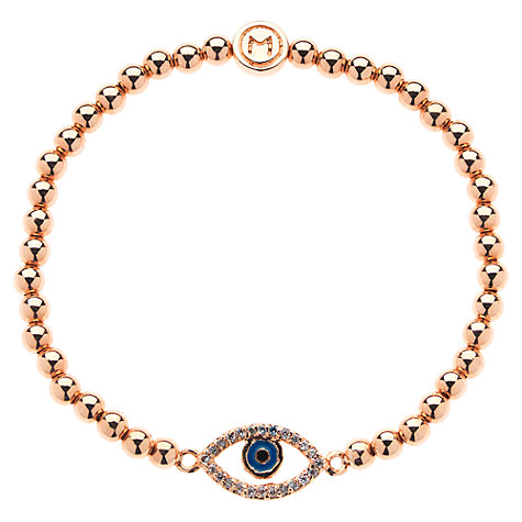 Buy Melissa Odabash Evil Eye Stretch Bracelet, Rose Gold Online at johnlewis.com