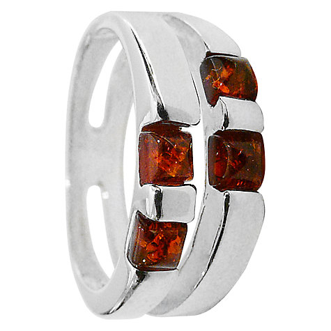 Buy Goldmajor Amber Square Silver Ring Online at johnlewis.com