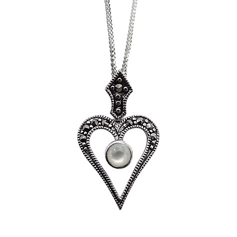 Buy Goldmajor Marcasite and Mother of Pearl Pendant Online at johnlewis.com