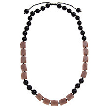 Buy Lola Rose Catrin Two Tone Long Necklace, Black Agate / Caramel Quartzite Online at johnlewis.com