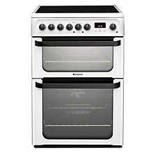 Buy Hotpoint JLE61P Signature Electric Cooker, White Online at johnlewis.com