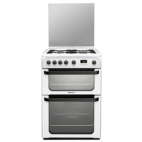 Buy Hotpoint Signature JLG61P Gas Cooker, White Online at johnlewis.com