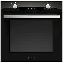 Buy Hotpoint SCL08EB Signature Single Electric Oven, Black Glass Online at johnlewis.com
