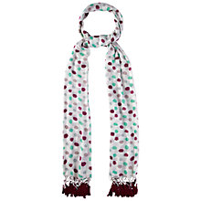 Buy White Stuff Tassel Spot Scarf, Off White Online at johnlewis.com