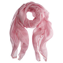 Buy Mint Velvet Flamingo Gauzy Scarf, Pink Online at johnlewis.com