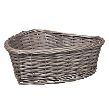 Buy John Lewis Wicker Heart Basket Online at johnlewis.com