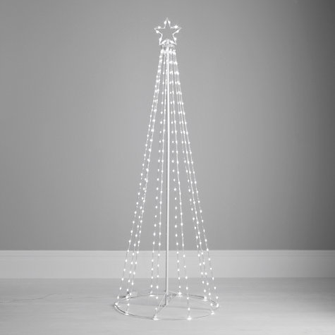 Buy John Lewis Outdoor Maypole Tube Tree Light, White, 6ft Online at johnlewis.com