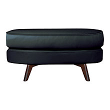 Buy John Lewis Barbican II Leather Footstool, Madras Black Online at johnlewis.com