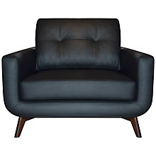 Buy John Lewis Barbican II Leather Snuggler, Madras Black Online at johnlewis.com
