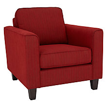Buy John Lewis Portia Armchair, Theo Crimson Red Online at johnlewis.com