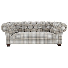 Buy John Lewis Todd Large Chesterfield Sofa, Beatrix Check Natural Online at johnlewis.com