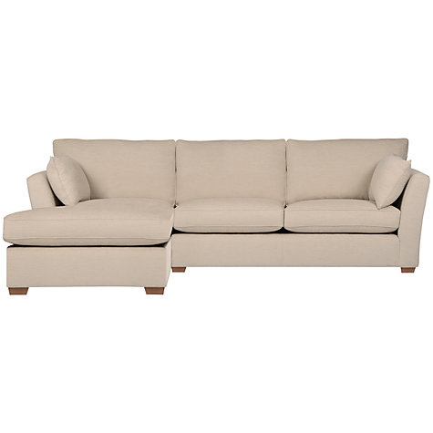 Buy John Lewis Nantes LHF Chaise End Sofa, Faye Smoke Online at johnlewis.com