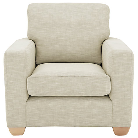 Buy John Lewis Gino Armchair, Checkmate Natural Online at johnlewis.com