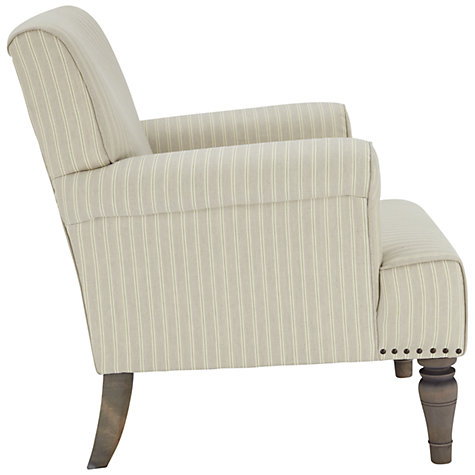 Buy John Lewis Kitty Armchair, Berlin Stripe Natural Online at johnlewis.com