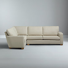Buy John Lewis Gino LHF Medium Corner End Sofa, Checkmate Natural Online at johnlewis.com
