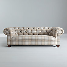 Buy John Lewis Todd Grand Chesterfield Sofa, Beatrix Check Natural Online at johnlewis.com