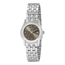 Buy Gucci YA055523 Women's G-Class Diamond Marker Watch, Silver / Brown Online at johnlewis.com