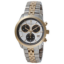 Buy Dreyfuss & Co DGB00063/06 Men's Two Tone Chronograph Watch, Silver / Gold Online at johnlewis.com