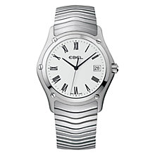 Buy Ebel 1215430 Women's Brushed Steel Bracelet Strap Watch, Silver Online at johnlewis.com