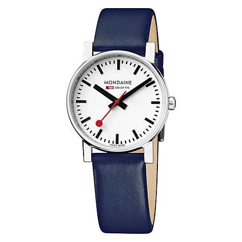 Buy Mondaine A658.30300.11SBD Unisex Exclusive Leather Strap Watch Online at johnlewis.com