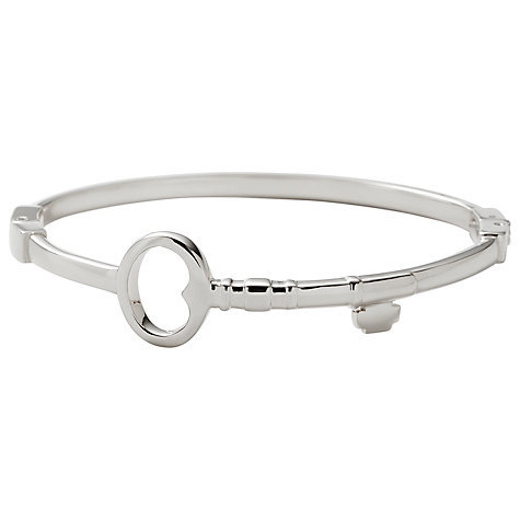 Buy Fossil Steel Key Bangle, Silver Online at johnlewis.com