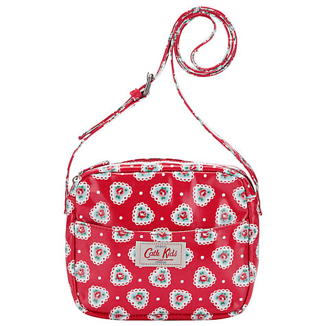 Buy Cath Kidston Sweetheart Rose Handbag, Red Online at johnlewis.com